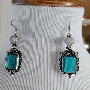 Apatite moonstone stamped 925 earrings